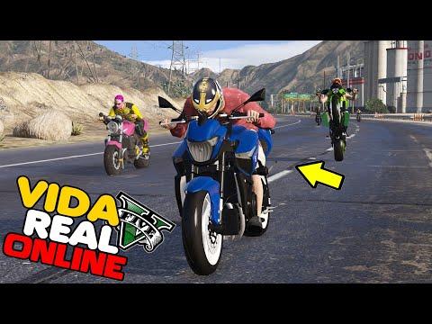 GTA V : VIDA REAL - ROLE DE MOTO COM A GALERA !! #293