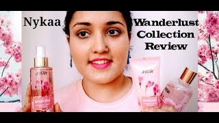 Nykaa wanderlust Collection Review | Fragrance Mist , Shower Gel , Body Scrub