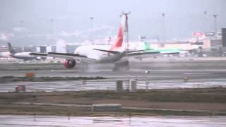 Vim Airlines B757-200 Wet Landing at Barcelona El Prat Airport