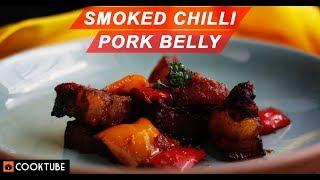 Smoked Chilli Pork Belly | Dry Chilli Pork Recipe | How to make Pork Belly
