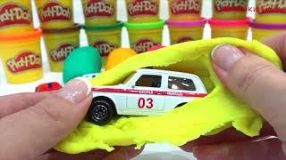 Машинки Cars AUDI JAGUAR MERCEDES play doh про машинки play doh video for kids toys kids все серии
