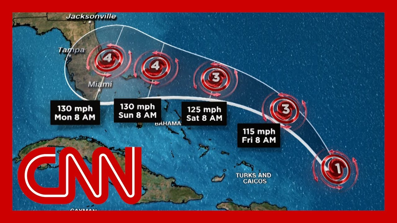 Hurricane Dorian Is on Course to Hit Florida as a Category 4 Storm