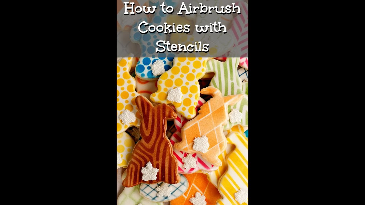 Stenciling Cookies with an Airbrush | The Bearfoot Baker