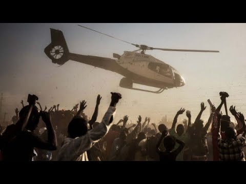 Kenyan candidates excite voters with helicopters