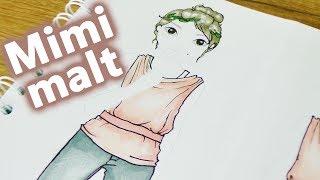 Wie male ich Falten in Klamotten?   falten tutorial im Topmodel Malbuch   Mimi malt   DIY Kids Club