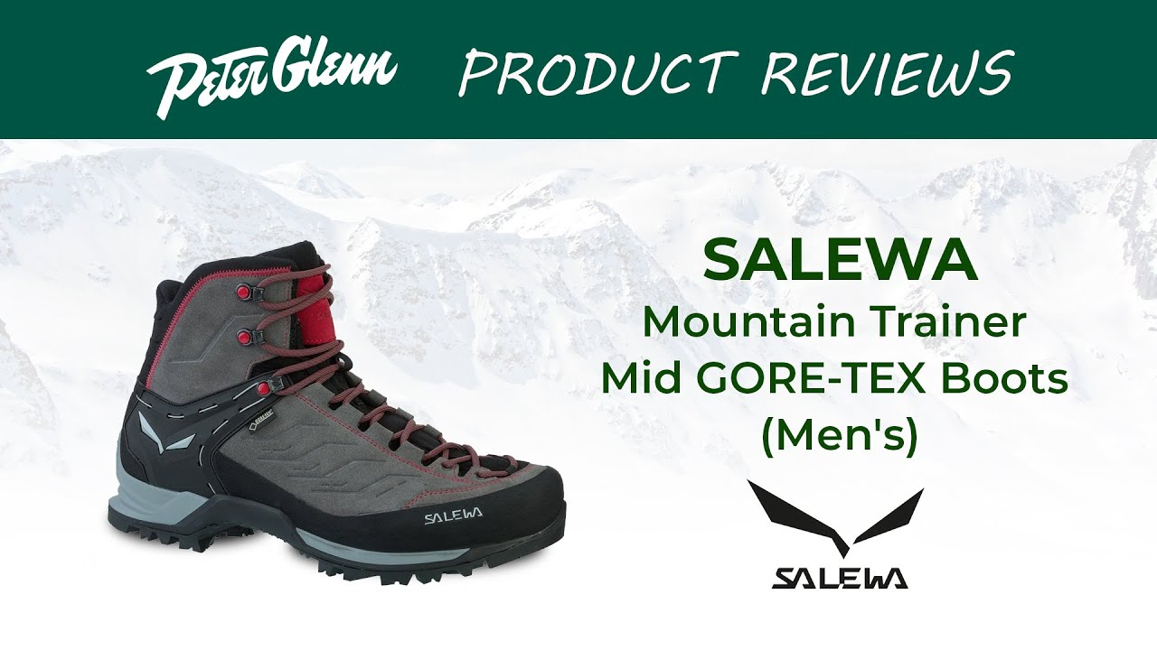 Salewa Men's Mountain Trainer Mid GTX Hiking Boots YouTube