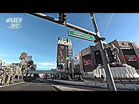 The ENTIRE Las Vegas Strip Cruise to Downtown 2018 (4k) VR360