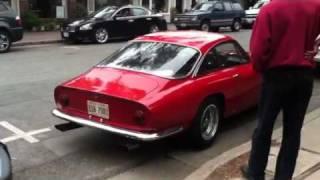 Ferrari Lusso parks in downtown Carmel