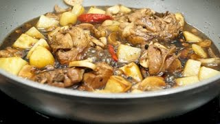 Chicken Adobo with Potatoes and Mushrooms (Adobong Manok)