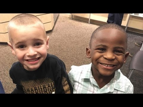 5-Year-Old Boy Got Haircut To Look Identical To Friend Who Is A Different Race