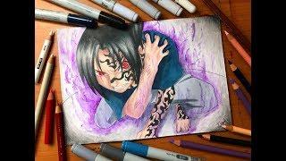 Speed Drawing - Sasuke Uchiha Curse Mark (Naruto Shippuden) [HD]