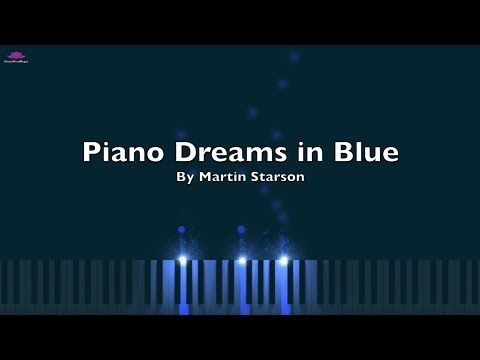 Sad Emotional Piano and Violin Duet 'Piano Dreams in Blue' - Piano Visualization