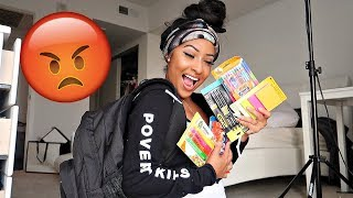 HARASSED BY HATER WHILE BACK TO SCHOOL SHOPPING FOR YOU GUYS!