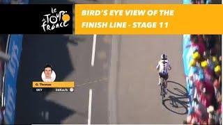 Video Bird's eye view of the finish line - Stage 11 - Tour de France 2018 download MP3, 3GP, MP4, WEBM, AVI, FLV Juli 2018