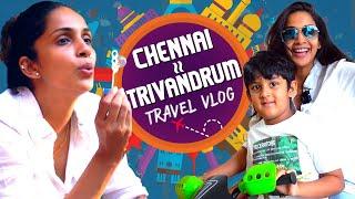 My First Travel Vlog  ✈️☺️❤️ | Chennai to Trivandrum | Samyuktha Shan