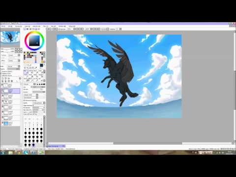 Paint Tool SAI - Flying Wolf