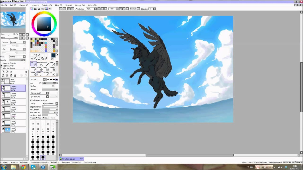 Paint Tool Sai  Flying Wolf