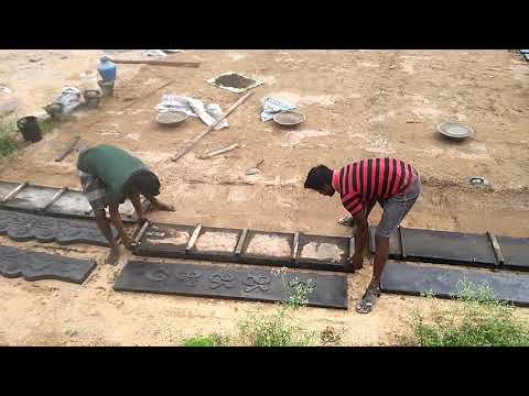How to Construct a Very low cost compound wall design in  India ? How to make 5 Slabs in a Time Wall