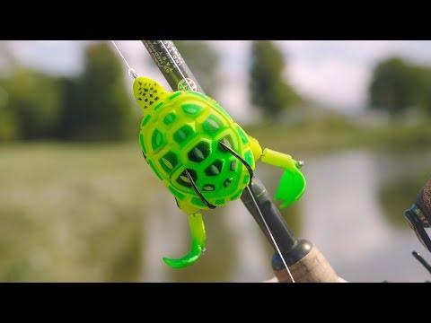 Strange Turtle Lure Challenge!! (GIANT BASS)
