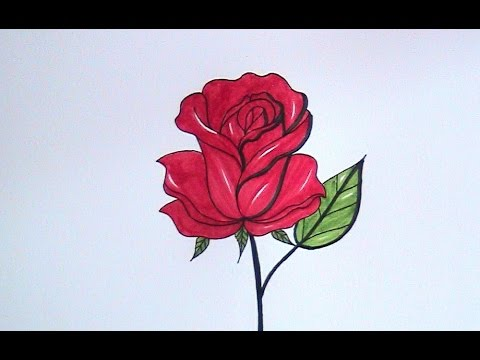 how to draw flowers for beginners - easy version rose ...