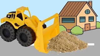 Видео  про машинки - Подъёмный кран на стройке - мультик для детей про Экскаватор и Трактор