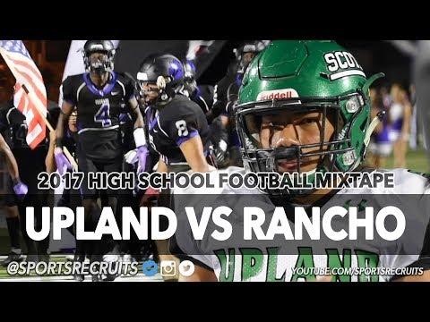 BASELINE LEAGUE NAILBITER! Upland vs Rancho Cucamonga @SportsRecruits Official Football Highlights
