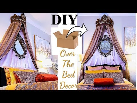 over-the-bed-victorian-chik-diy-on-a-budget!-bedroom-decorating-ideas-with-cardboard!