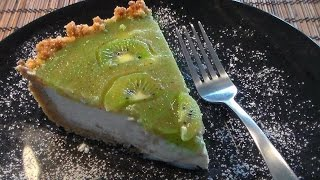 Creamy Kiwi Cheese Cake - No Bake