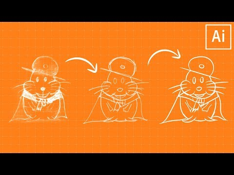 How to create sketch on adobe illustrator