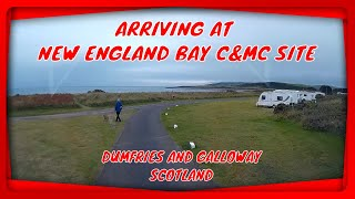 Arriving at NEW ENGLAND BAY Caravan and Motorhome club site - Sept 2020