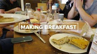 Making Breakfast for the Team