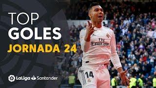 Todos los goles de la Jornada 24 de LaLiga Santander 2018/2019