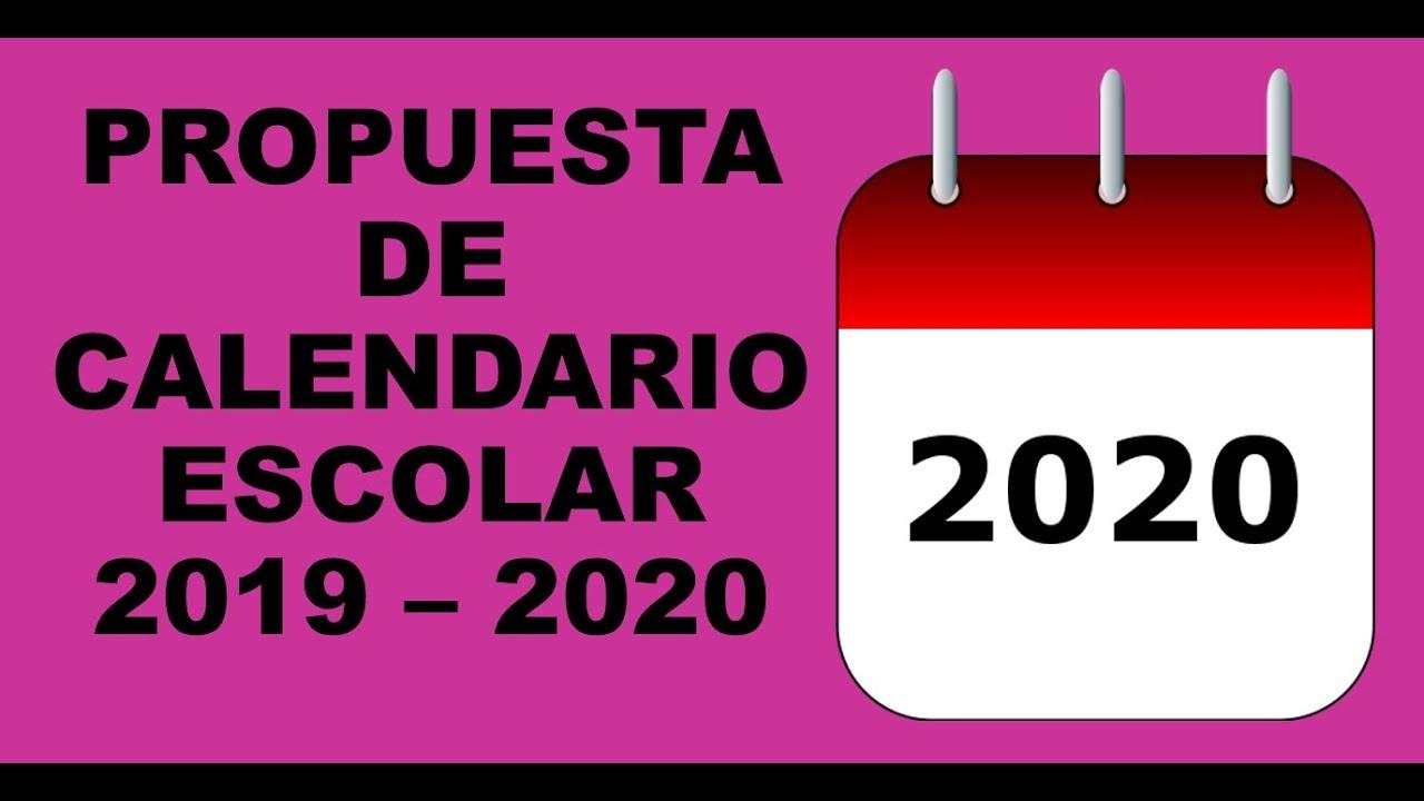 Calendario Escolar 2020 Sep Mexico.Soy Docente Propuesta De Calendario Escolar 2019 2020