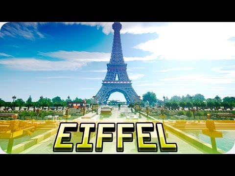 Minecraft - Eiffel Tower In Minecraft - Huge Paris Map Cinematic & Download