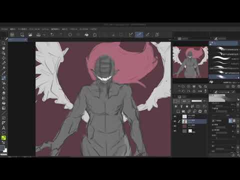 【オリジナルイラスト】虚無の魔人描いてみた Illustration Making【CLIP STUDIO PAINT PRO】