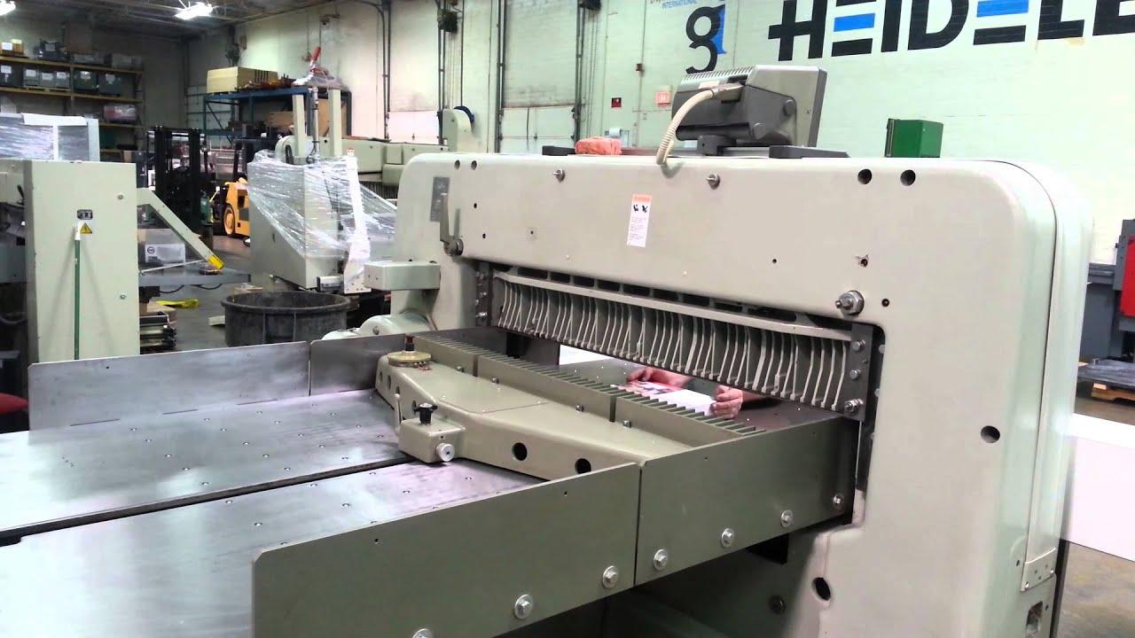 polar 137 emc cutter back gauge youtube rh youtube com 141 Inch Commercial Paper Cutter Automatic Paper Cutter Machine