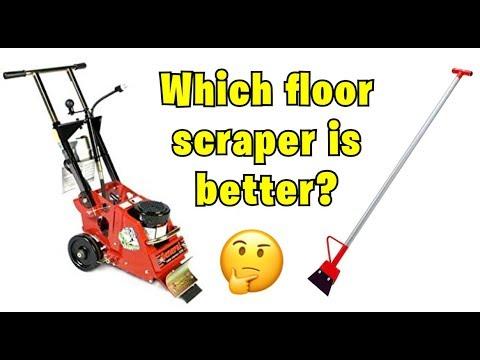 HandHeld Floor Scraper Review And Demonstration YouTube - Hand held electric floor scraper