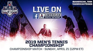 2019 American Digital Network: Men's Tennis Championship