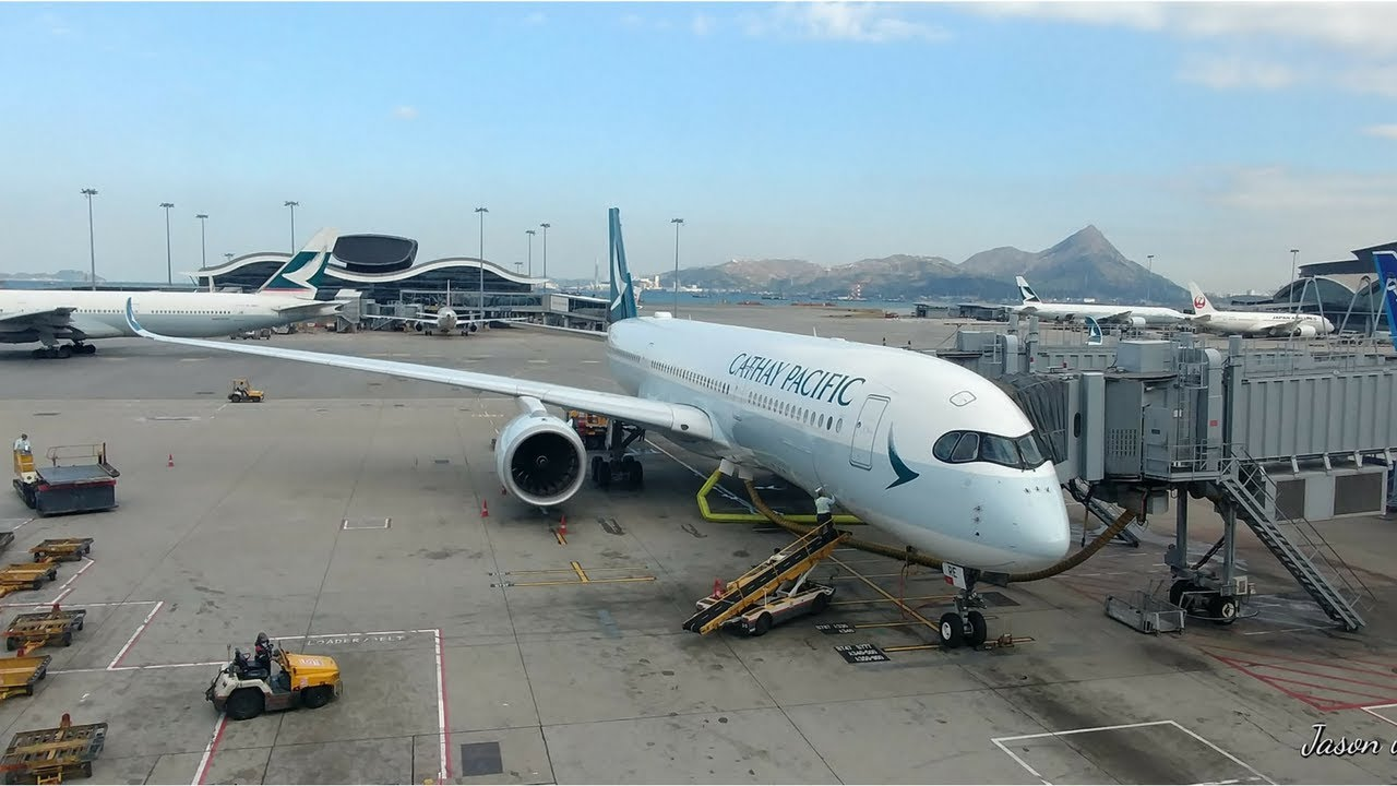Cathay Pacific A350 Hong Kong to Taipei ` Announcement ` by Jason Aviation  Channel