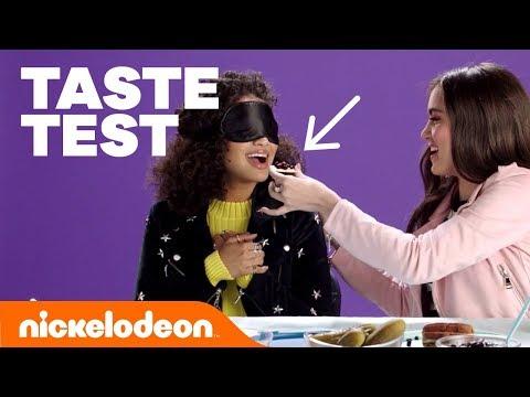 Blindfold Taste Test w Lizzy Greene, Riele Downs, Breanna Yde & More! 🍒  FunniestFridayEver