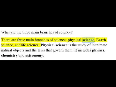 the 3 main branches of science