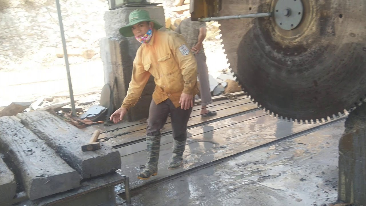 Máy cắt đá khổng lồ…công nghệ cắt đá cây …