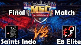 Mobile Legends MSC championship final match between Saints Indo and...