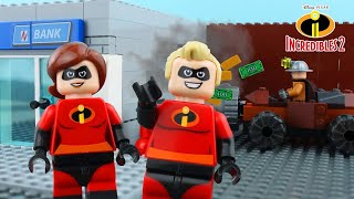 LEGO Incredibles STOP MOTION LEGO Incredibles Underminer Bank Robbery | Incredibles 2 | Billy Bricks