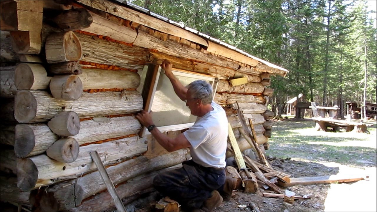 Martin 39 s cabin part 23 upgrading the north window doovi for Off grid cabin foundation
