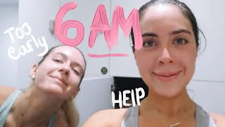 WE TRIED A 6AM MORNING ROUTINE | (not fun) | Sophia and Cinzia | ad