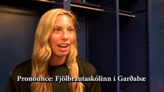 FAU Soccer players try to pronounce the names of their new Icelandic teammates