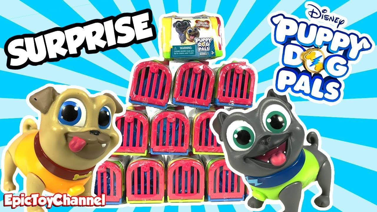902200cc07e DISNEY PUPPY DOG PALS SURPRISE Travel Pets with Bingo and Rolly + Disney  Surprise Toys for Kids