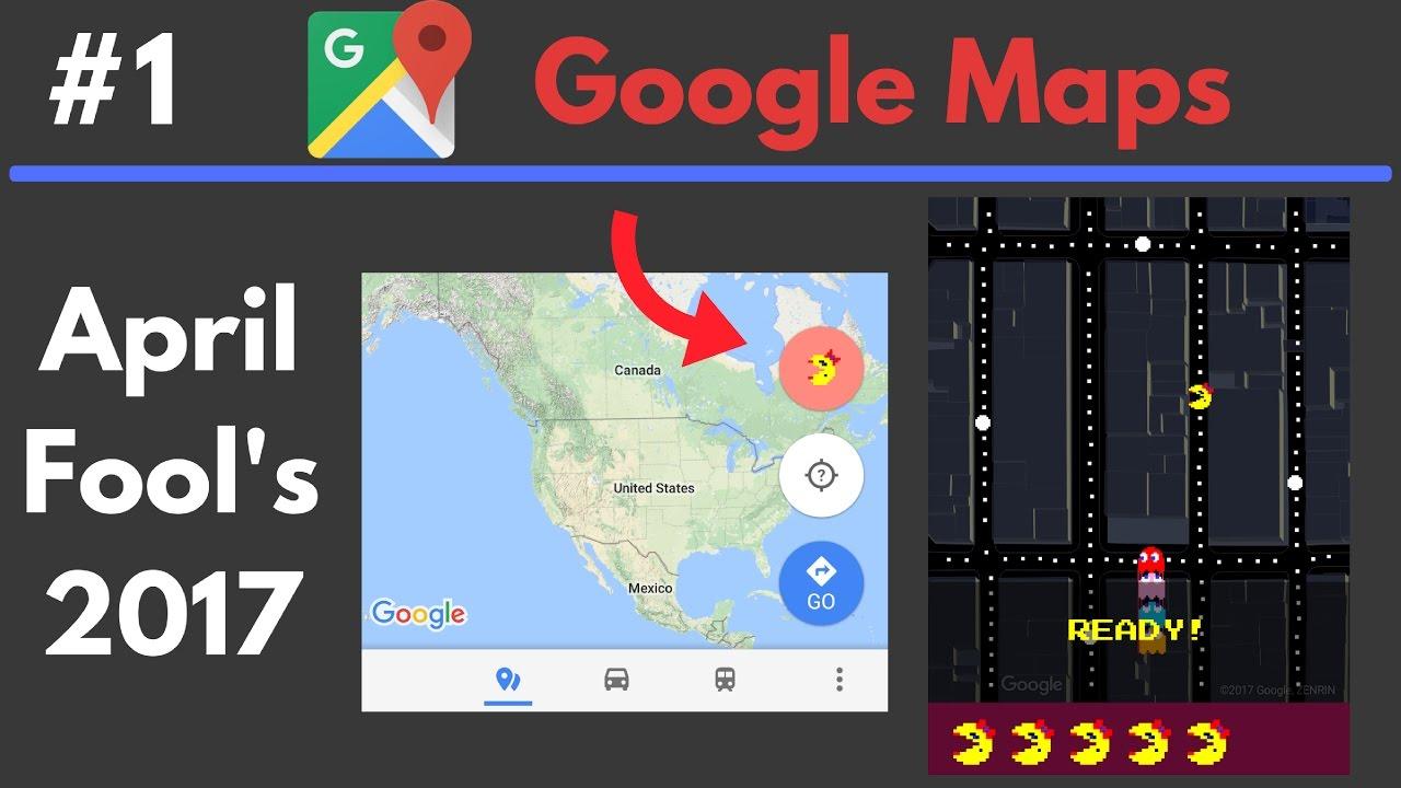 Google themes pacman - Google Maps Ms Pac Man April Fool S 2017