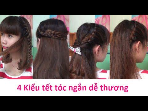 Hairstyles – 4 Kiểu Tết Tóc Đơn Giản Dễ Thương Cho Tóc Ngắn | Yêu Làm Đẹp